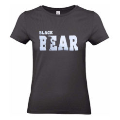 "Ladies` Sof Tee ""Black Bear"" -schwarz"